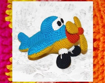 Amigurumi Pattern. Crochet Little Airplane. Amigurumi toy. DIY