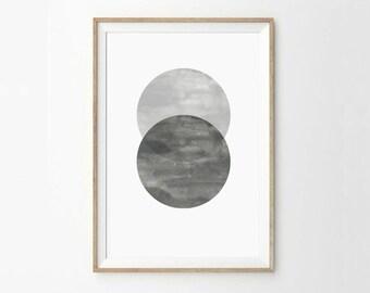 Geometric print - Abstract art - Geometric art - Circles print - Circle - Abstract print - Scandinavian style - Minimal print