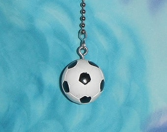 One - Soccer Ball Sports Resin ~ Ceiling Fan Pull Chain