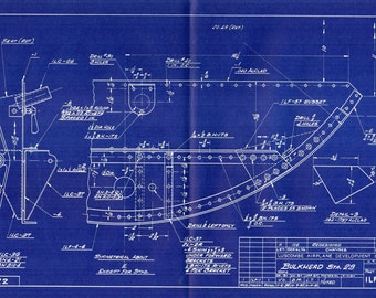 Aircraft Blueprint Etsy
