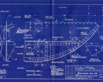 Aircraft Blueprint Etsy