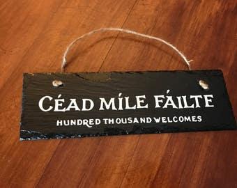 Custom Irish Welcome Plaque