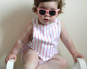 Candy Stripe, Baby Romper, Summer Romper, Pink and White Stripe, Kids, Baby Girl Romper, Stripe Clothes, Baby Clothes, Girls Clothes, Gift