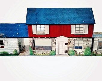 Vintage Marx Tin Litho Doll House 1950's / Toys