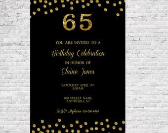 65th Birthday Etsy