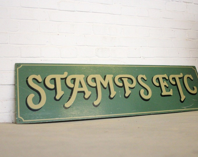 Wooden Hand Painted Stamps Sign