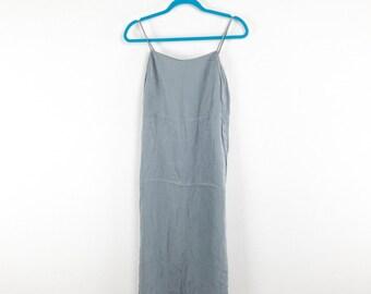 Silky Grey Spaghetti Strap 90's Slip Dress by Express