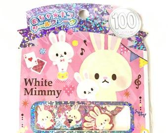 Kamio Japan White Mimmy Sticker Sack
