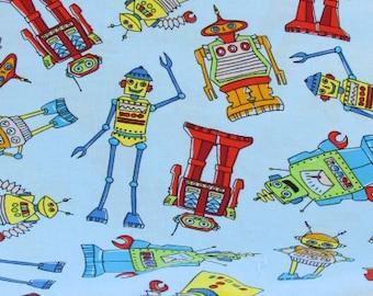"""27""""x44"""" Robots  Fabric 142"""