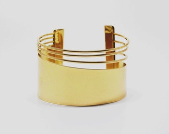 Game of thrones style Cuff bracelet - gold cuff - unique cuff