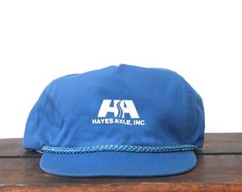 Vintage Hayes Axel HA Cars Auto Parts Minimal Trucker Hat Strapback Zip Back Baseball Cap