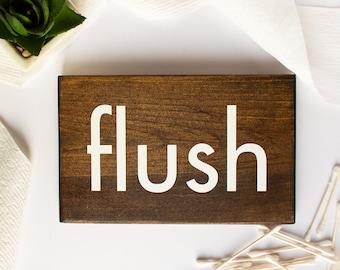 Flush Toilet Sign, Kids Bathroom Decor, Kids Bathroom Wall Decor, Flush Sign, Wooden Bathroom Signs, Bathroom Wall Decor Rustic, Flush