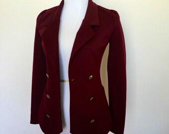 Burgundy Women's Doublebreasted Blazer