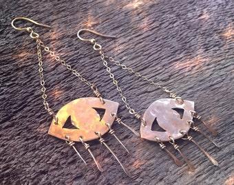 Evil eye earrings // handmade jewelry / boho bohemian gift / gypsy all seeing eye