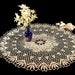 Crochet Doily, Round, 23-inch, Ecru (Natural), Pineapple, Crochet Mat, Crochet Lace, Table Cover, Fine Art Crochet