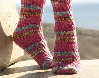handknitted socks, swirl socks, knitted socks, woolsocks, drops design, made to order, your color, your size, garter stitch