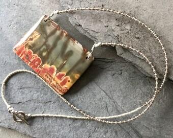 Cherry Creek Jasper and Smoky Quartz Necklace