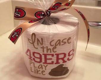 San francisco 49ers embroidered toilet paper gag gift
