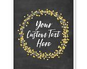 Christmas Sign, Custom Print, Custom Quote, Personalized Print, Personalized Wedding, Wedding Gift,  Anniversary Gift, Chalkboard Decor