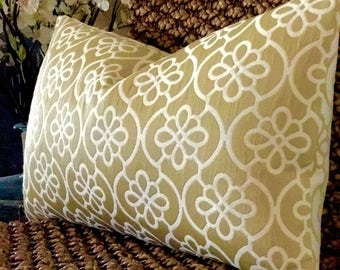 Gold Pillow Cover~Gold Geometric Pillows~Gold Floral Pillows Gold Lumbar Pillow~Other Sizes Available~Invisible Zipper