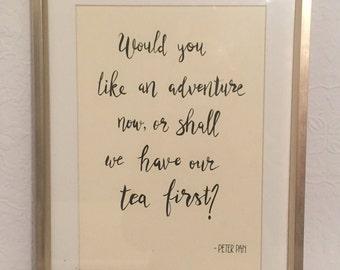 HANDWRITTEN Peter Pan Quote Print