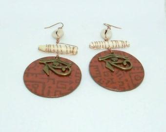 181- Eye of Heru Earrings- Copper