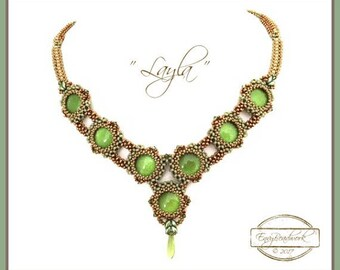 """Beading Kit: """"Layla"""" Necklace in English( Beads Only!!)  D.I.Y"""