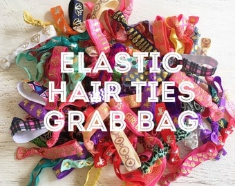 Elastic Hair Ties Grab Bag - 10 Hair Ties