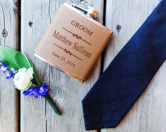Groomsmen Gift, Engraved Hip Flask, Groomsmen Flask, Personalized Flask, Best Man Gift, Bridal Party, Wedding Party Gift, 1 Flask Listing