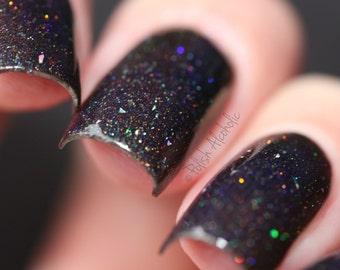 Black Magic - 10 ml handmade nail polish