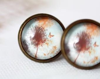 12 mm ear studs, dandelion