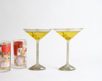 Lucite Martini with Olives Bar Wall Decor Mid Century Modern Bar Ware Martini Glasses Man Cave Vintage Wall Decor Bar Decorations Boho