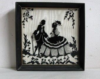 Frame Picture Vintage Silhouette Etsy