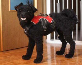 Custom dog portrait // Life size // Large // Various coat lenghts // Pet portrait sculpture // Memorial