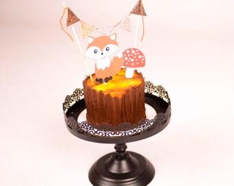 Woodland Cake Topper, Forrest Cake Topper, Woodland party