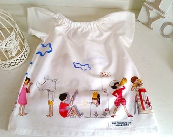 Baby Girls short sleeve Peasant Summer Dress  0-3 months perfect for Spring and Summer