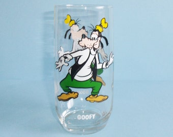 Pepsi Disney Goofy Glass Tumbler Collector Series Walt Disney Productions 1970s Disney Goofy Drinking Glass