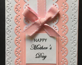 Mother's Day Card, Scrapbooked card, Handmade Card, Card for Mom, Scrapbooked Mother's Day Card