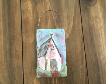 "A mini plaster canvas ""The vintage Church"""