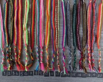 Wholesale Peruvian Rainbow Friendship Bracelets - lot of 25