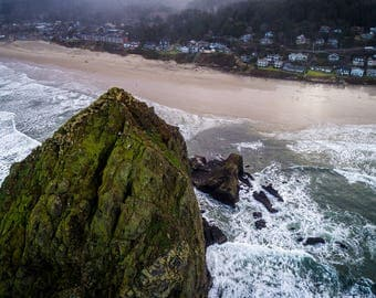Landscape Photography, Oregon Photography, Ocean Photograph, Haystack Rock, Cannon Beach, Ocean, Beach, Pacific Northwest, Travel Photos