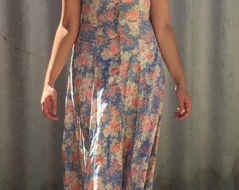 Floral grunge maxi