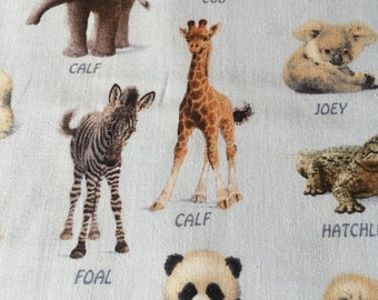 Baby Animal Friends - 100% Cotton Fabric by John Butler for Elizabeth's Studios