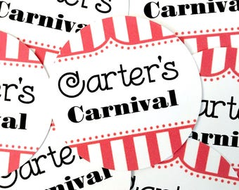 Carnival Party Favor Cutouts