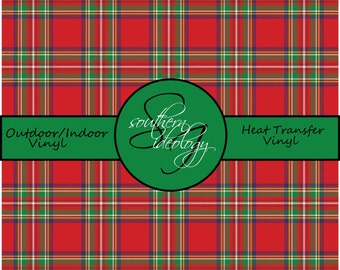Christmas Plaid Craft Vinyl and Heat Transfer Vinyl // Pattern 508