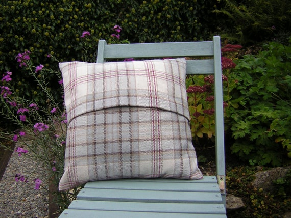Lythmore Smoke Check Tweed Cushion Cover