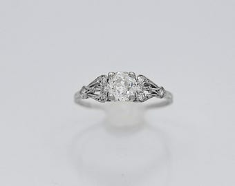 Antique Engagement Ring .75ct. Diamond & Platinum Art Deco - J36280