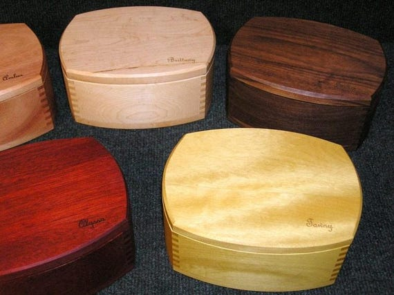 CUSTOM Modern-Style Keepsake Boxes; with trays (or not); can be engraved!