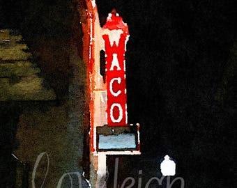 Watercolor Waco Art Digital Photo