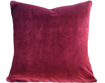 Fuschia Velvet Throw Pillows : Fuschia pillow Etsy